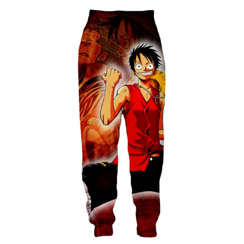 Streetwear Pants One Piece Luffy Victory