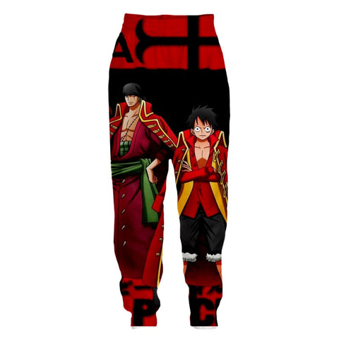 Streetwear Pants One Piece Zoro and Luffy special