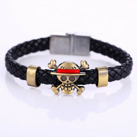Bracelet Luffy flagship straw hat skeleton logo in alloy