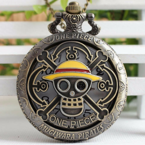 One Piece Pocket Watch Straw Hat Crew Symbol Classical Vintage