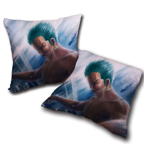 Pillow One Piece Zoro drawing