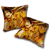 Pillow Attack on titan double side printed 13.8x13.8in ( 35x35 cm)