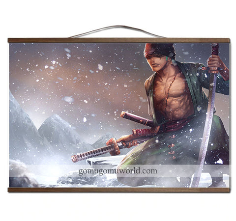 Poster canvas winter Zoro wooden frame (12 x 18 inches)