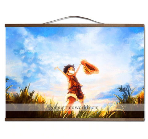 Poster canvas childhood freedom wooden frame (12 x 18 inches)