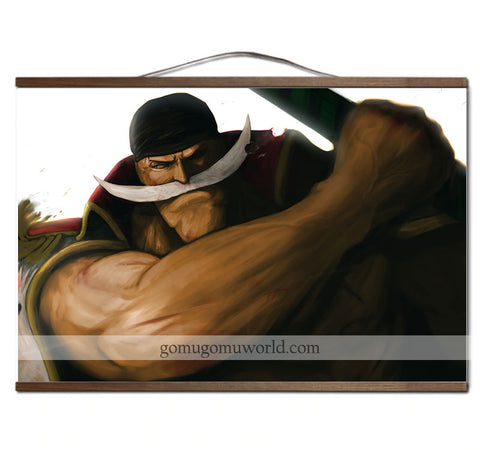 Poster canvas Whitebeard the Yonko wooden frame (12 x 18 inches)