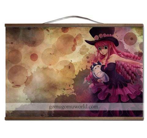Poster canvas Perona wall wooden frame (12 x 18 inches)