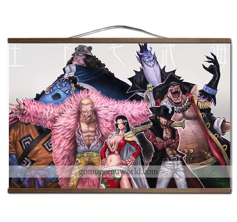 Poster canvas ShichiBukai wooden frame (12 x 18 inches)