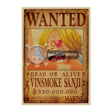 Poster Kraft Sanji New reward