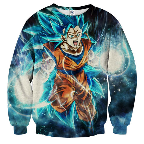 Sweater Dragon Ball Son Goku super saiyan God 3 explosion