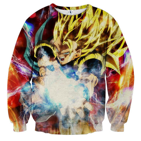 Sweater Dragon Ball Gogeta Super saiyan 3 fireball