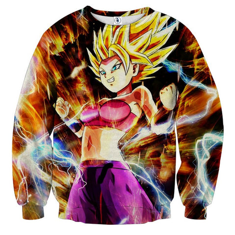 Sweater Dragon Ball Caulifla Super saiyan