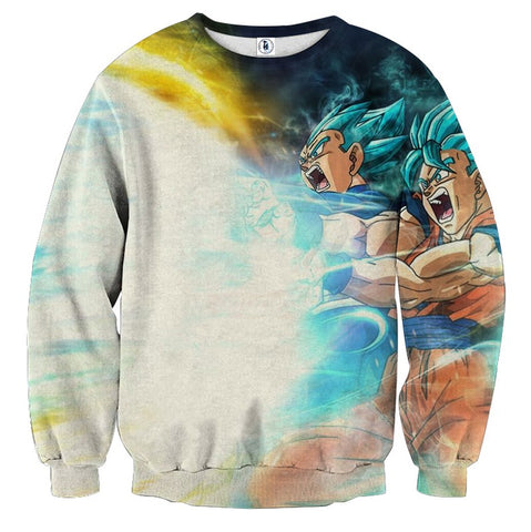 Sweater Dragon Ball Double Saiyans God Attack