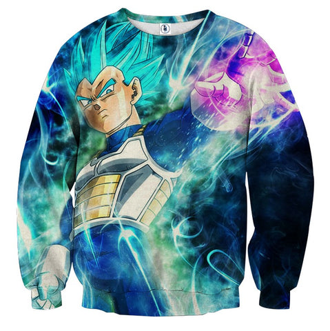 Sweater Dragon Ball Vegeta God Judgement