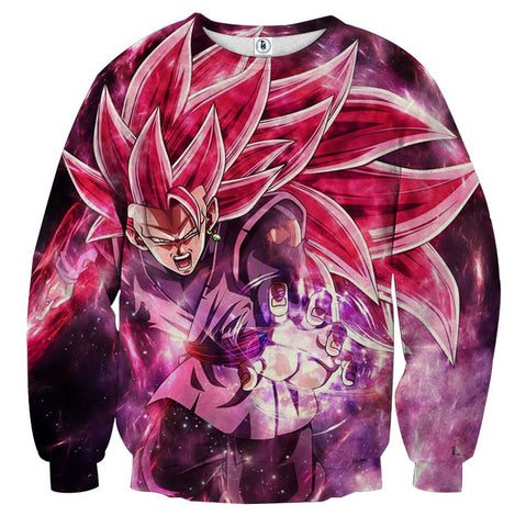 Sweater Dragon Ball Son Goku Black Super Saiyan Rose 4