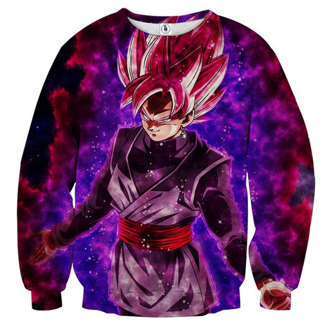 Sweater Dragon Ball Son Goku Black Rose