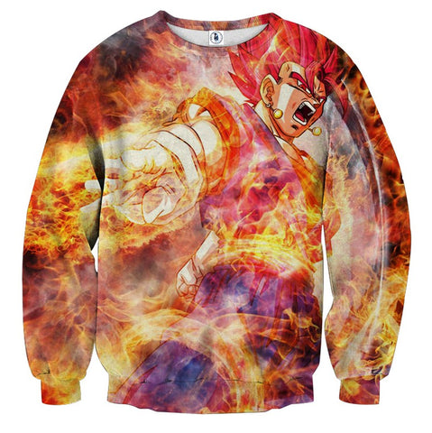 Sweater Dragon Ball Vegito God nirvana