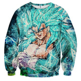 Sweater Dragon Ball vegito super saiyan God mode