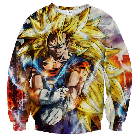 Sweater Dragon Ball Vegito super saiyan 3