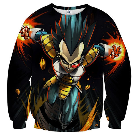 Sweater Dragon Ball Vegeta prince of Saiyans