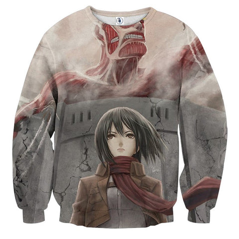 Sweater Attack on titan Mikasa Wall