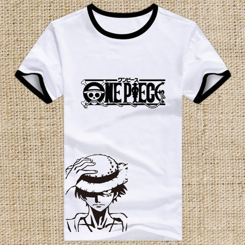 T-shirt One Piece cartoon print
