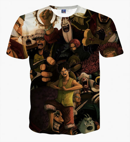 T-shirt One Piece team fanart