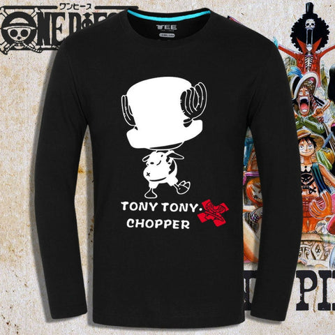 T-shirt Doc Tony Chopper before timeskip printed long sleeves
