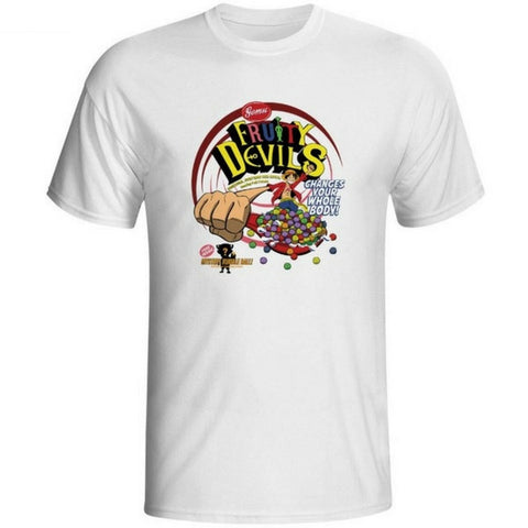 T-shirt Fruity Devils printed short sleeves