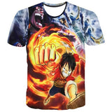 T-shirt Luffy against Blackbeard and Aokiji