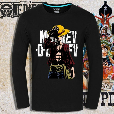 T-shirt Monkey D. Luffy printed long sleeves