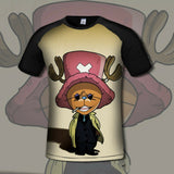 T-shirt mob Tony Tony Chopper 3D printed short sleeves