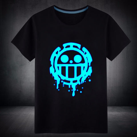 T-shirt blue fluorescence Heart Pirates
