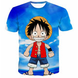 T-shirt small Luffy 3D printed short sleeves