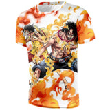 T-shirt two brothers in the battle of Marineford