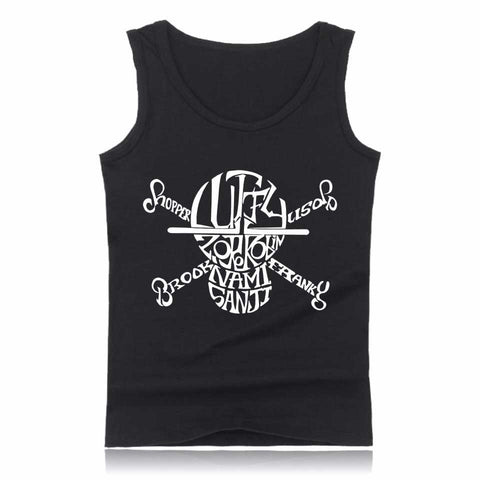Tank top Jolly Roger calligraphy