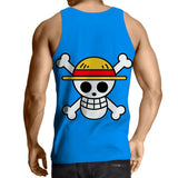 Tank Top Straw Hat Jolly Roger 3D printed