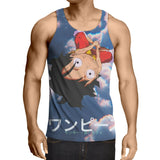 Tank Top intrigued Luffy 3D printed