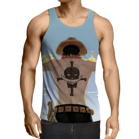 Tank Top second division Portgas D. Ace 3D printed