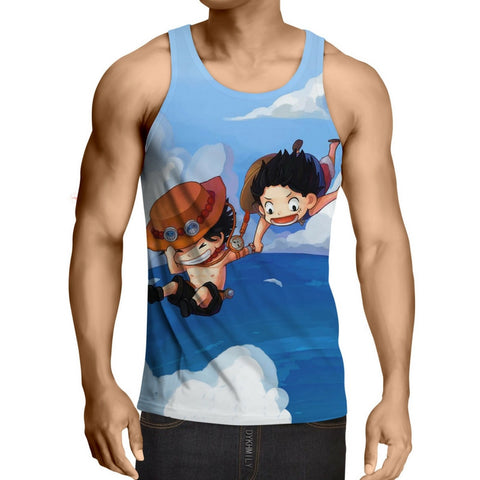 Tank Top small Ace and Luffy 3D printed