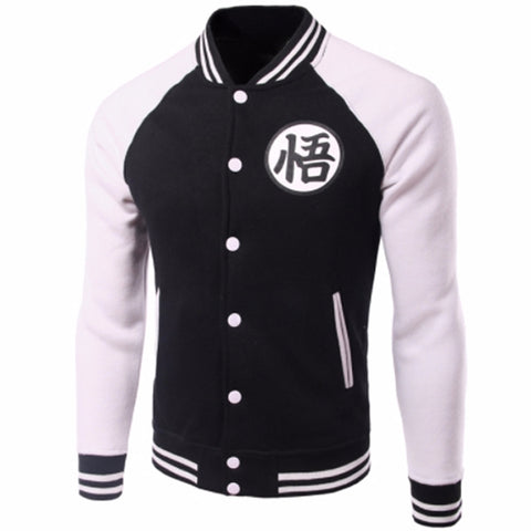 Jacket baseball inspiration dragon ball in black and white
