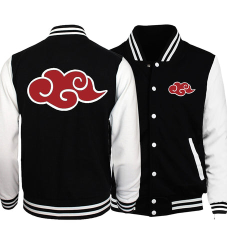 Black jacket baseball inspiration dragon ball magic cloud