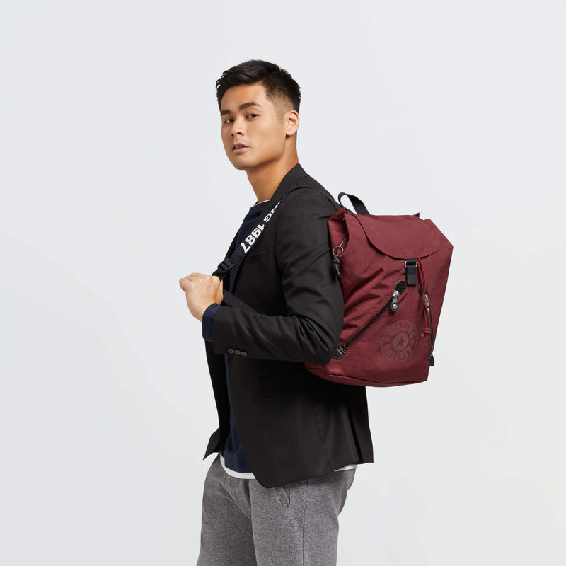 Backpack Kipling Fundamental Maroon Black KI2519T31