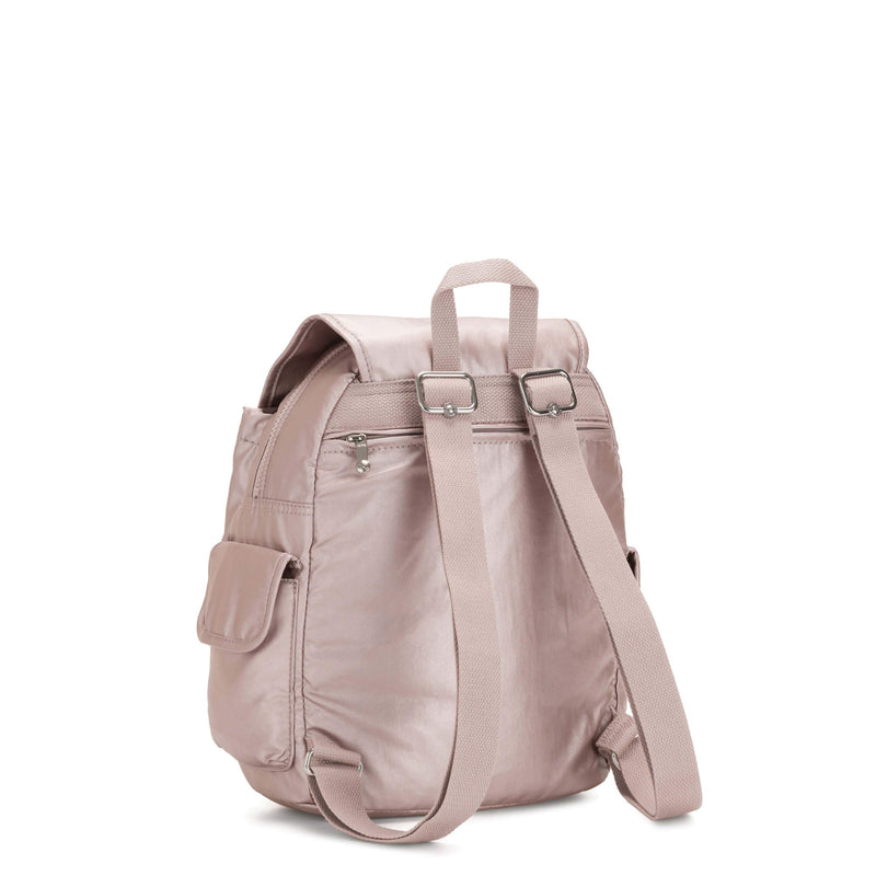 Backpack Kipling City Pack S Metallic Rose