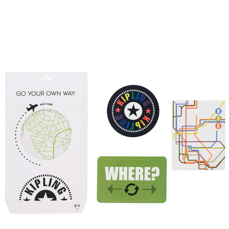 Kipling Sticker Set Map Mix Col SS20 KI7468Q54