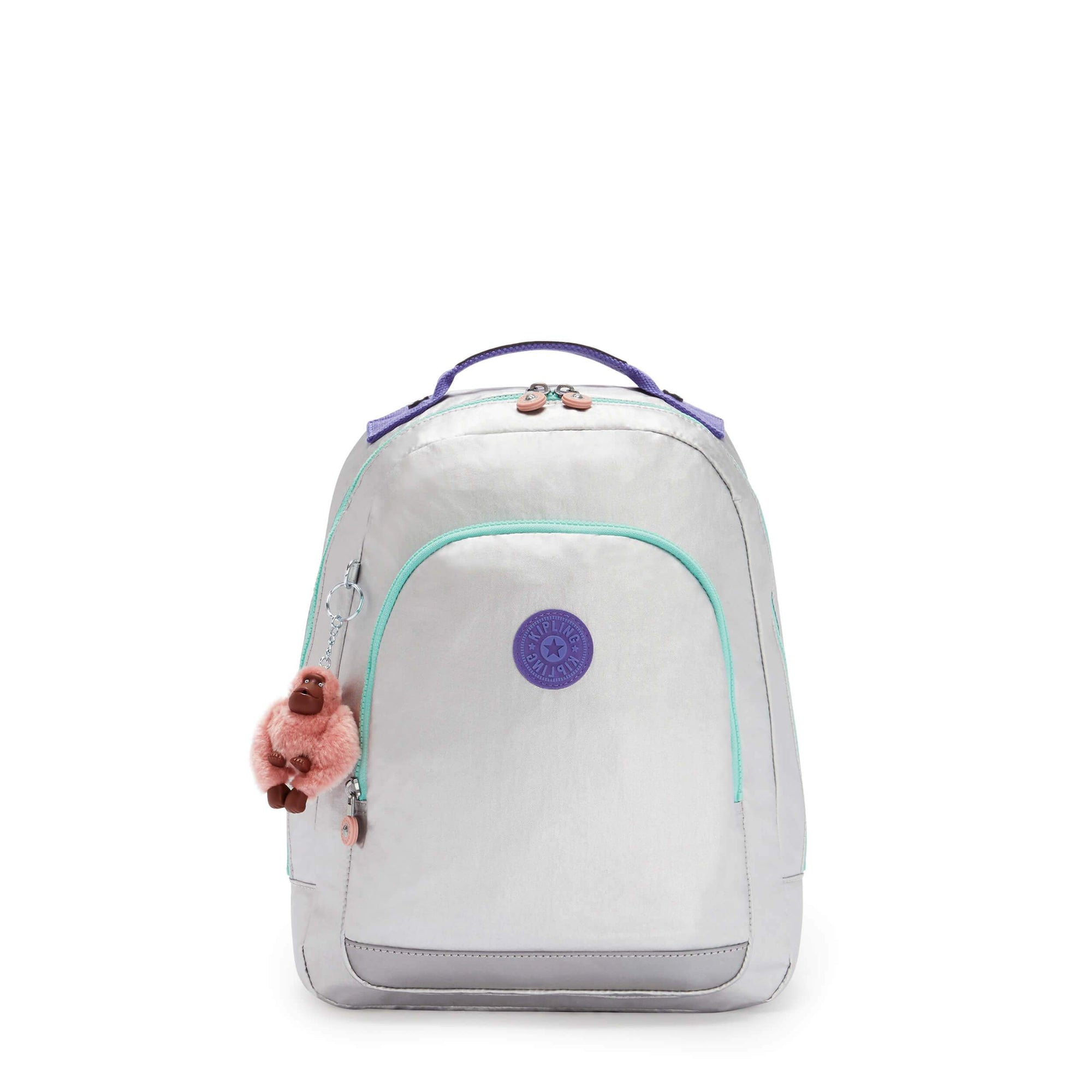 Mochila Kipling Class Room S Polished Gr Bl KI721865E