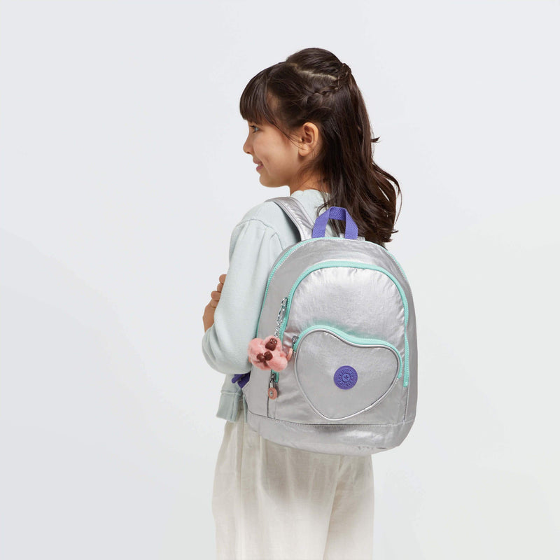 Mochila Mini Kipling Heart Backpack Polished Gr Bl KI559265E