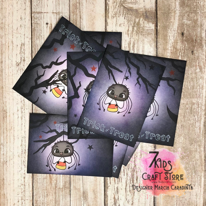 Trick Or Treat Spider ATCs