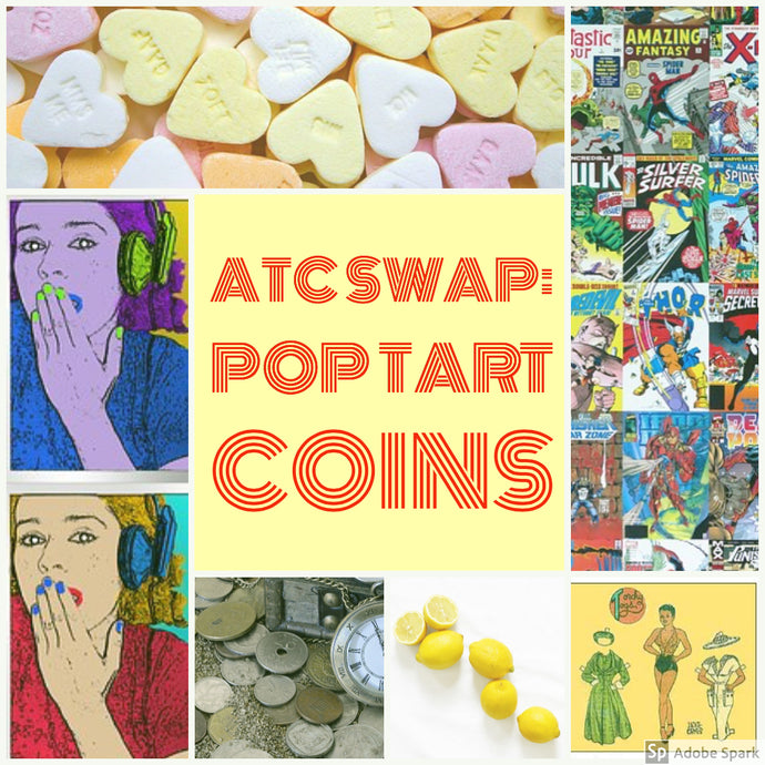 ATC Swap with Kindred Stamps: Pop Tart Coins