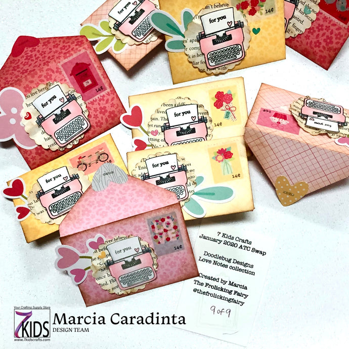 Love Notes Envelope ATCs