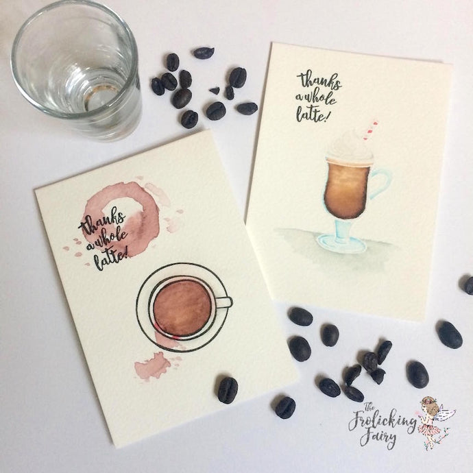 A Latte Watercolor Notes